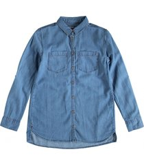 tommy hilfiger langere soepele denim tuniek blouse
