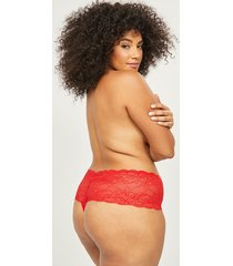 lane bryant women's lace wide-side thong panty with split gusset 18/20 cherry