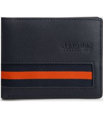 billetera azul-naranja kenneth cole