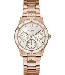 reloj cronógrafo guess w1158l2-rosado
