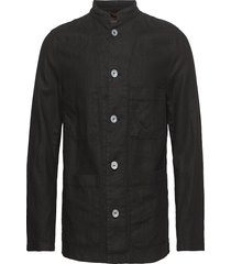 hannu shirt jacket overshirts zwart oscar jacobson