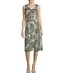 emlia palm-print dress