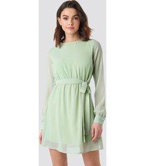 na-kd chiffon dress - green