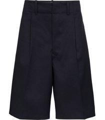 uniforme pleated bermuda shorts - blue