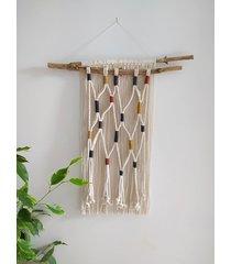 dekoracja ścienna ze sznurka