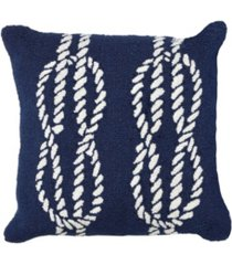 """liora manne frontporch ropes indoor, outdoor pillow - 18"""" square"""