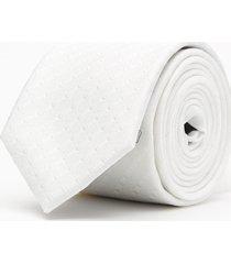 krawat gładki biały 100