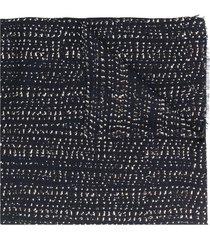 ermenegildo zegna abstract-print scarf - blue