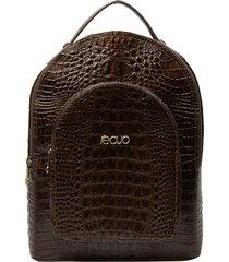 mochila de couro recuo fashion bag café