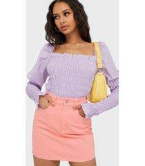 gina tricot hi-waist short denim skirt minikjolar