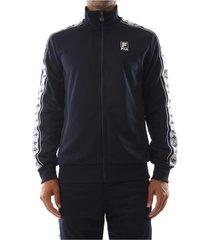 fila 682376 track jacket sweater men black iris