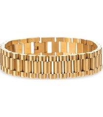 eye candy la men's levi goldtone titanium chunky chain bracelet