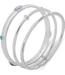 anne klein 3-pc. set crystal omega bracelets