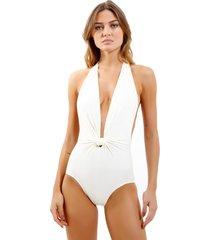 body rosa chá dri beachwear off white feminino (off white, gg)
