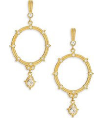 goldplated sterling silver & cubic zirconia drop earrings