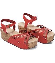 sandalias sexy  adulto femenino marketing personal 16600 rojo