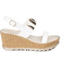 sandalia bars blanco we love shoes
