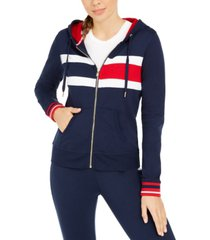 tommy hilfiger sport colorblocked zippered hoodie