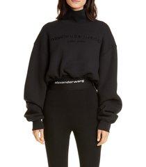 women's alexander wang mock neck crop sweatshirt