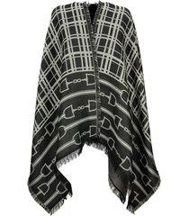 elisabetta franchi monogram pattern cape