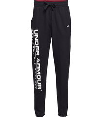 ua performance originators fleece logo pant sweatpants mjukisbyxor svart under armour