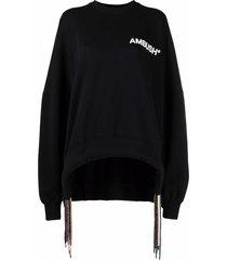 ambush multi-cord logo sweatshirt - black