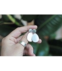 srebrne kolczyki sztyfty wiszące kropla
