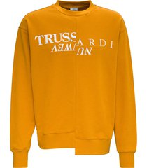 trussardi cut up jersey sweatshirt with logo