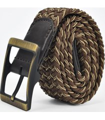cinturón elástico café/caoba para hombre