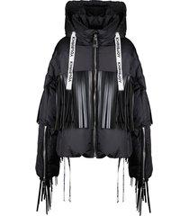 khris leather fringesjacket