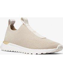 mk sneaker bodie slip-on in mesh con logo - sabbia chiaro (naturale) - michael kors
