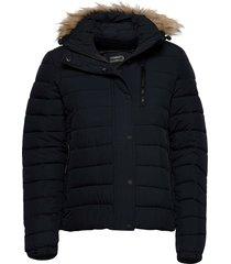 classic faux fur fuji jacket fodrad jacka blå superdry