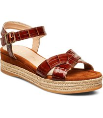 granada_crw_ks sandalette med klack espadrilles brun unisa