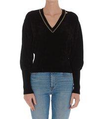 elisabetta franchi celyn b. chain sweater