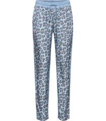 pantaloni casual in fantasia animalier (viola) - bodyflirt