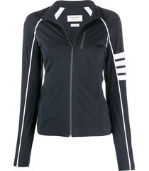 thom browne 4-bar lightweight tech compression jacket - grey
