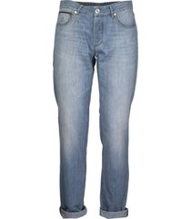 brunello cucinelli denim trousers five pockets
