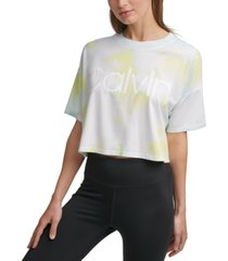 calvin klein cropped tie-dyed t-shirt