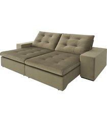 sofá 3 lugares retrátil e reclinável di qualitá ferrero - 2339