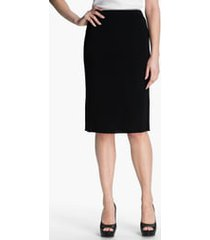 women's ming wang straight skirt, size small - black