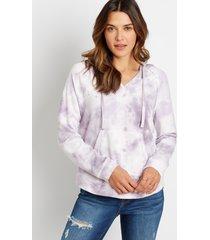 maurices womens purple tie dye pullover hoodie