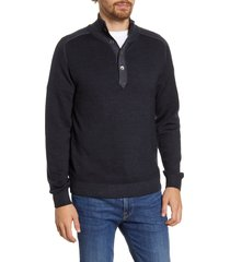 men's hartford regular fit high neck wool sweater, size medium - grey