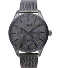 orologio multifunzione marrakech con cinturino e cassa in acciaio grigio per uomo