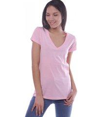 remera rosa vov jeans escote v