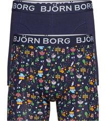 shorts bb midsummer 2p boxerkalsonger blå björn borg