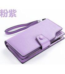 gran capacidad cartera para mujer/ long ladies-púrpura