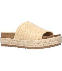 women's bella vita satara platform slide sandal, size 12 n - beige