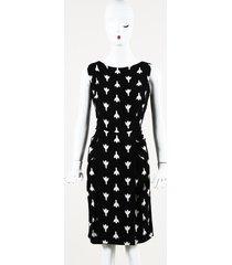 prada printed knee length dress
