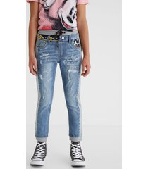 mickey mouse bimaterial trousers mickey mouse - blue - 9/10