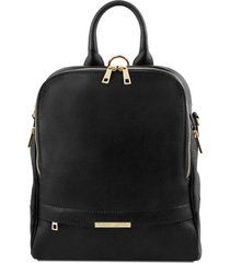 tuscany leather tl141376 tl bag - zaino donna in pelle morbida nero